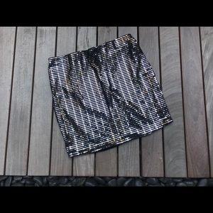 FOREVER 21 | Silver Studded Skirt